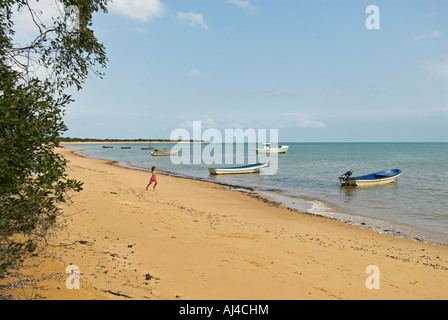 Beach at Inhaca island near Maputo Mozambique Africa - Stock Photo