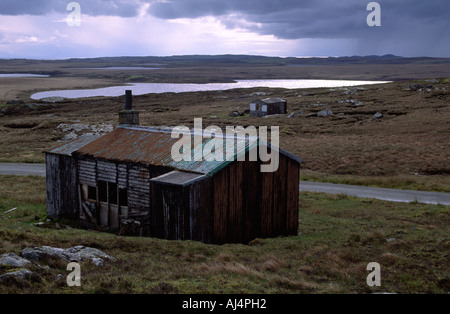 Derelict shieling on the Pentland Road, Isle of Lewis, Outer Hebrides - Stock Photo
