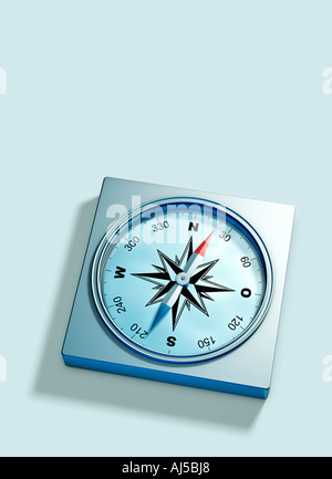 compass symbol of orientation direction and showing the way to the future information navigation GPS - Stock Photo