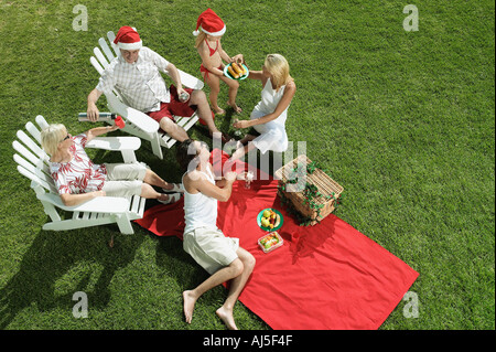 Christmas picnic - Stock Photo