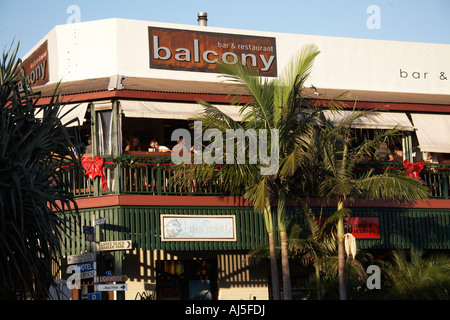 Balcony bar and restuarant in Byron Bay New South Wales NSW Australia - Stock Photo