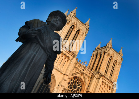 Rajah Rammohun Roy Statue near The Cathedral Church of The Holy and Undivided Trinity Bristol England - Stock Photo