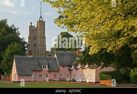 Cavendish village Suffolk, England. - Stock Photo