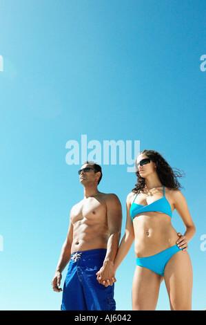 Couple wearing swimwear - Stock Photo