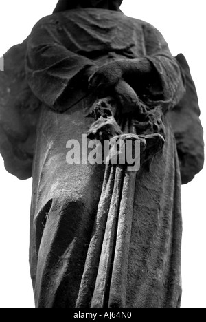 Gravestone detail in Tower Hamlets Cemetery Park London - Stock Photo