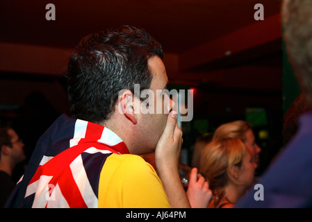 Australia vs Italy, 2006 World Cup Finals, Walkabout pub, Shepherds Bush, London - Stock Photo