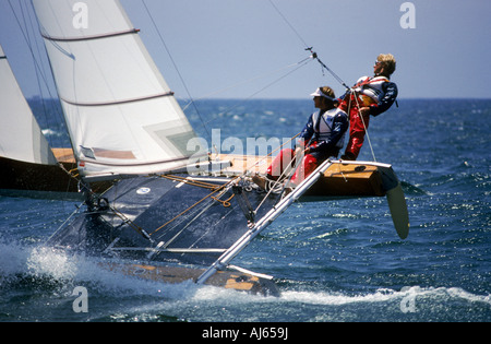 Tornado class racing team in Olympic competition - Stock Photo