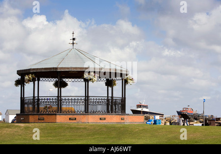 UK Kent Deal The Strand Royal Marines memorial bandstand on the promenade - Stock Photo