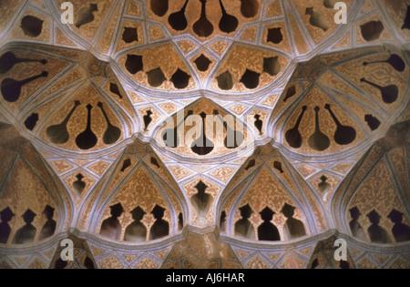 music-room in the Ali Qapu-palace, Iran, Isfahan - Stock Photo