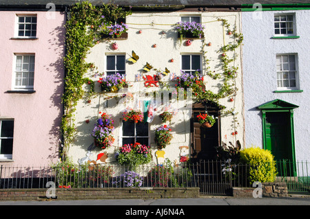 Colourful Victorian terraced house in Abergavenny Monmouthshire Wales UK GB