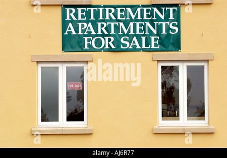 RETIREMENT APARTMENTS FOR SALE on a new development in the rural market town of Brecon Powys Wales UK GB - Stock Photo