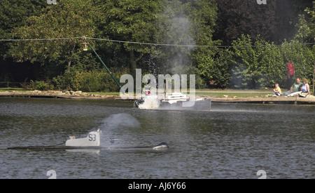 Naval Warfare at Peasholm Park Scarborough Yorkshire UK