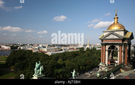 St Petersburg from St Issac's Colonnade 2 - Stock Photo