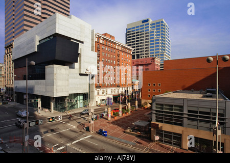 The Contemporary Arts Center located in Downtown Cincinnati, Ohio. - Stock Photo