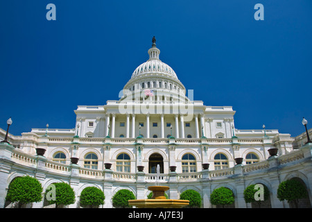 View of the west front of the United States Capitol, Washington DC. - Stock Photo