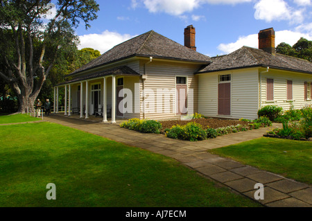 The treaty house, Waitangi Treaty Grounds, Bay of Islands New Zealand - Stock Photo