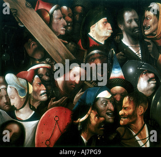 'Carrying the Cross', c1480-1516. Artist: Hieronymus Bosch - Stock Photo