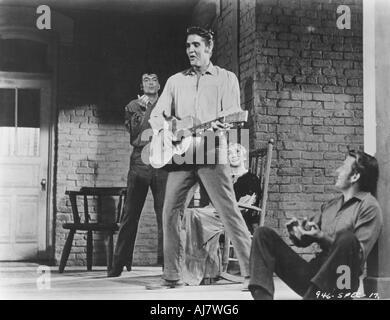 Elvis Presley American singer and actor 1956  - Stock Photo
