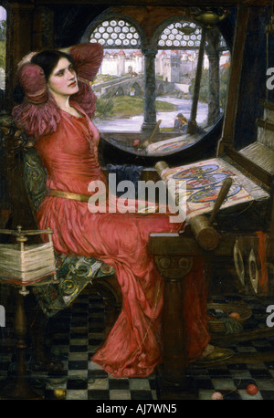 'I am half sick of shadows', c1911. Artist: John William Waterhouse - Stock Photo