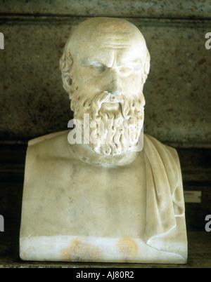 Aeschilus, Ancient Greek tragedian. Artist: Unknown - Stock Photo