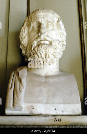 Euripedes, Ancient Greek tragedian. Artist: Unknown - Stock Photo