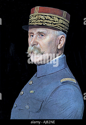 Henri Philippe Omer Petain, French soldier and statesman. Artist: Unknown - Stock Photo