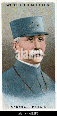 Henri Philippe Omer Petain, French soldier and statesman, 1917. Artist: Unknown - Stock Photo
