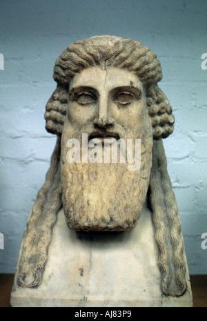Dionysius, Greek god of wine. Artist: Unknown - Stock Photo