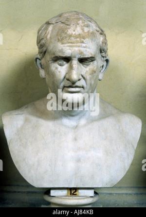 Marcus Tullius Cicero, Roman lawyer, orator and statesman. Artist: Unknown - Stock Photo