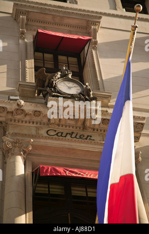 Cartier Jewelry Store on Fifth Avenue in Midtown Manhattan New York NY - Stock Photo