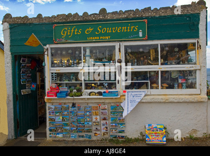 Gift and Souvenir shop at Lizard Point in Cornwall - Stock Photo