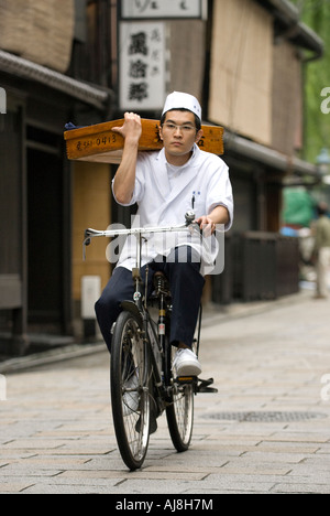 Japanese Soba noodle delivery - Stock Photo