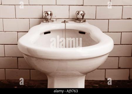 Bathroom Val Trebbia Piacenza Italy - Stock Photo