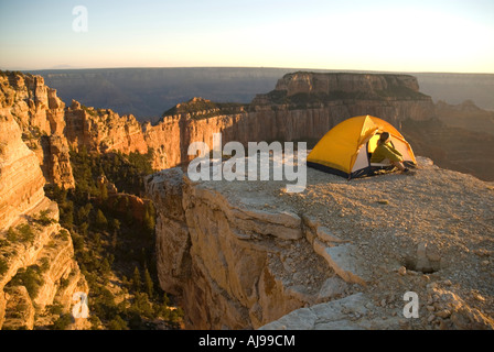 Woman c&s in tent Grand Canyon. - Stock Photo & Woman camps in tent Grand Canyon Stock Photo Royalty Free Image ...