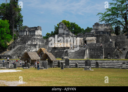 Central Plaza in Tikal - Stock Photo