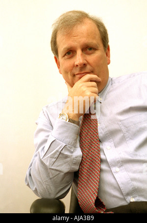 Kelvin McKenzie Journalist and Broadcaster Portrait Oct 2002 - Stock Photo