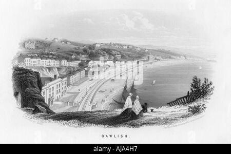 'Dawlish', Devon, c1860. Artist: Unknown - Stock Photo