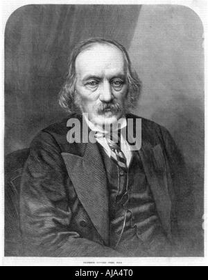 Richard Owen, English anatomist and paleontologist, 1872. Artist: Unknown - Stock Photo