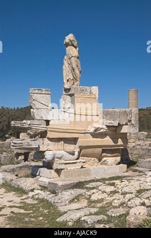 Libya Cyrene 75 BC Agora Naval Monument - Stock Photo