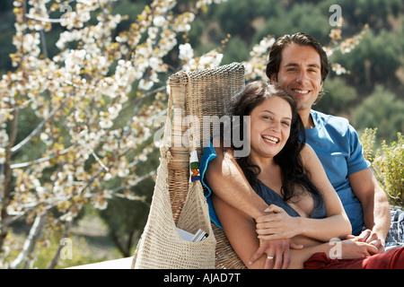Portrait of Couple Outdoors - Stock Photo