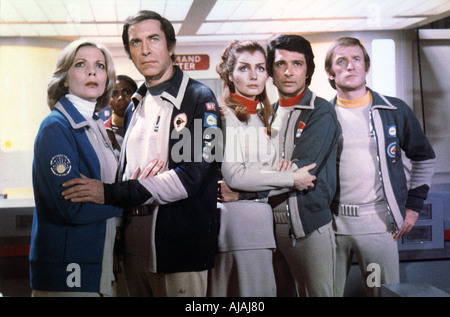 SPACE 1999 UK TV series screened in 1975 78 starring at left Barbara Bain and Martin Landau - Stock Photo