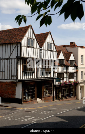 Tissiman building Bishops Stortford Hertfordshire England the shop has been a mens outfitters continuously since - Stock Photo