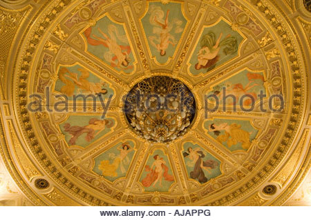 The ceiling of the Lviv Opera House - Stock Photo