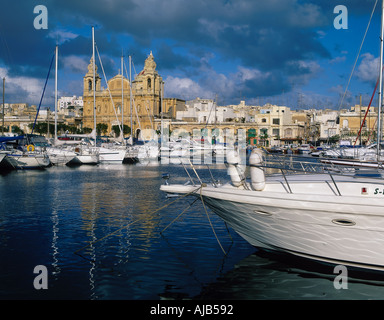 MSIDA CREEK MALTA Europe Malta - Stock Photo