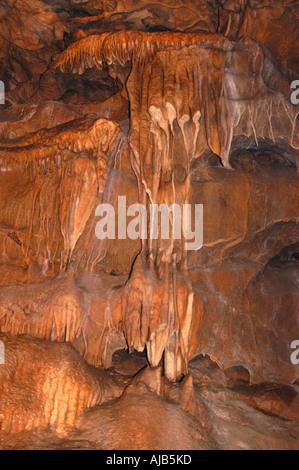 Underground rock formations, Cheddar Gorge, England, UK. - Stock Photo