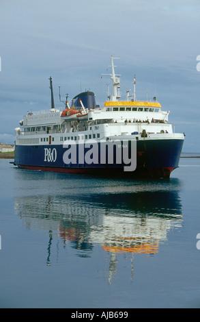The ferry boat of Fair Isle (Scotland Stock Photo, Royalty Free ...
