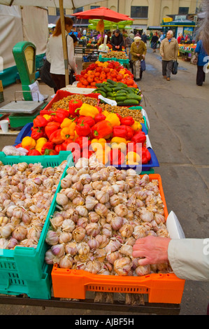 stall centraltirgus central market Riga Latvia EU - Stock Photo