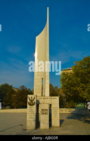Monument for underground resistance central Warsaw Poland EU - Stock Photo
