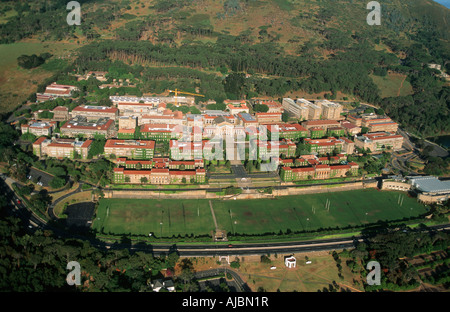 Aerial View of the University of Cape Town - Stock Photo