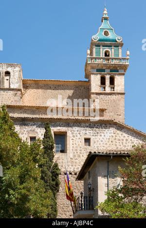 Real Cartuja de Valldemossa town in summer Majorca Mallorca Spain Stock Photo...